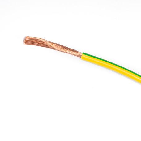 Installatiedraad H07V-K 1 x 6mm2 Geel/Groen (UV bestendig) - 100 Meter