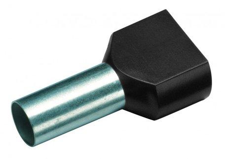 CIMCO Twin Adereindhuls Geïsoleerd 2 x 1,5mm2 / 8mm zwart - 100 Stuks