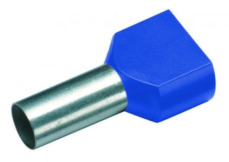 CIMCO Twin Adereindhuls Geïsoleerd 2 x 2,5mm2 / 10mm blauw - 100 Stuks
