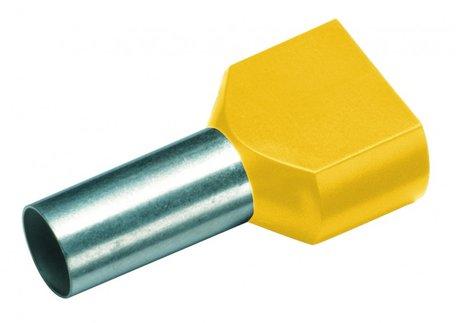 CIMCO Twin Adereindhuls Geïsoleerd 2 x 6,0mm2 / 14mm geel - 100 Stuks
