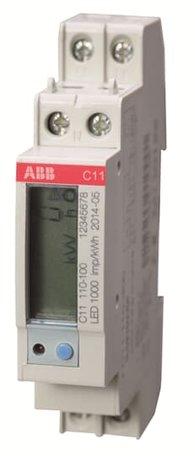 ABB C11 1 Fase kWh meter 40A met puls uitgang
