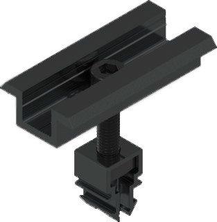Zonnepaneel Tussenklem Zwart 36-45mm
