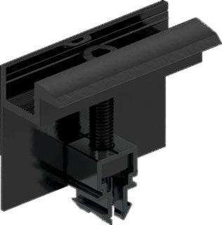 Zonnepaneel Eindklem Zwart 40mm