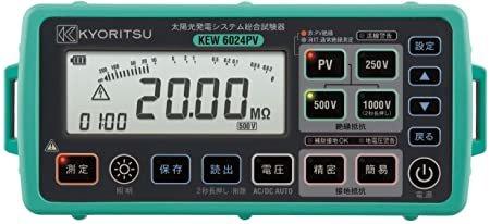 Kyoritsu 6024PV installatietester inclusief MC4 adapterset