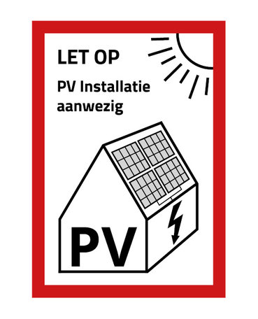 PV Sticker NEN1010 - Medium Formaat