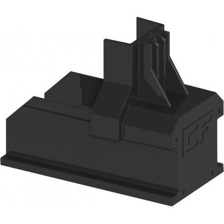 ClickFit EVO - Montagerail Eindkap Zwart