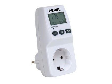 Energiemeter 230V 3600W met randaarde (NL/DE)