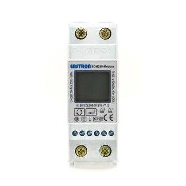 Eastron SDM230-Modbus V2 MID 100A, 1 Fase kWh meter met Modbus