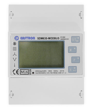 Eastron SDM630-Modbus MID V2, 3 Fase kWh meter met Modbus