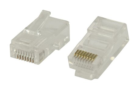 RJ45 UTP Connectoren CAT5 Male PVC Transparant 10x