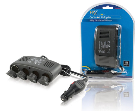 HQ Universele DC Stroom Adapter 12V Auto / USB