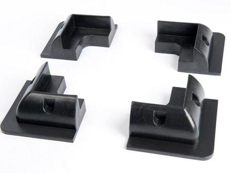 Set Kunststof Hoekstukken Zwart