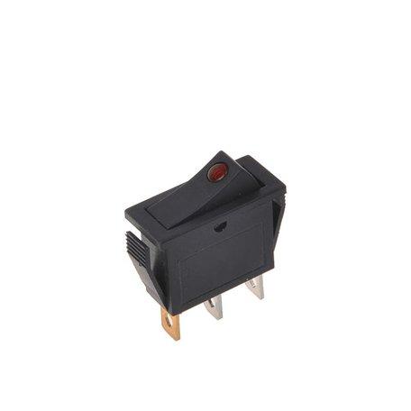 Wipschakelaar LED Rood 12/24V 10A