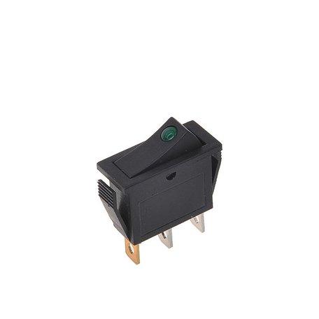Wipschakelaar LED Groen 12/24V 10A