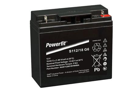 Exide GNB Powerfit S112/18 G6 - 12V 18Ah Accu