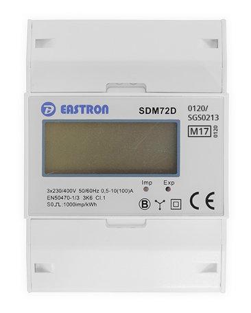Eastron SDM72D Modbus MID, 3 Fase kWh meter met Modbus
