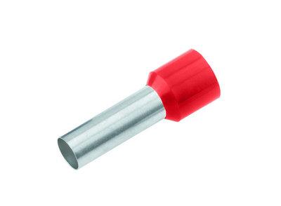 CIMCO Adereindhuls Geïsoleerd 10,0mm2 / 12mm rood - 100 Stuks