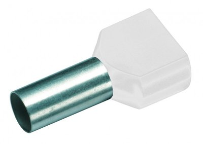 CIMCO Twin Adereindhuls Geïsoleerd 2 x 0,5mm2 / 8mm wit - 100 Stuks