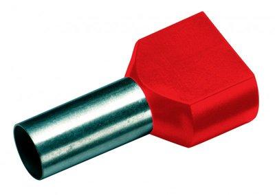 CIMCO Twin Adereindhuls Geïsoleerd 2 x 1,0mm2 / 8mm rood - 100 Stuks
