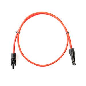 Solar verlengkabel 4mm2 Rood met Staubli MC4 connectoren 1 Meter