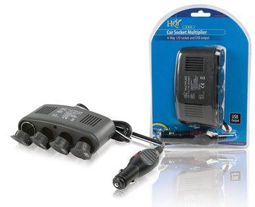 HQ Universele DC Stroom Adapter 12V Auto / USB