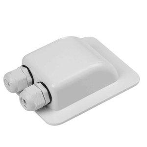 Dakdoorvoer voor twee kabels Wit
