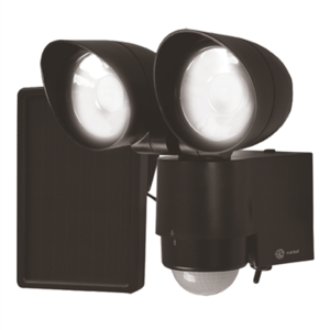 Xunzel LED lamp Solartwain Bewakingslamp Zwart