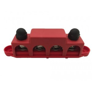 DC Verdeelrail rood 4x M10 + 3x M4